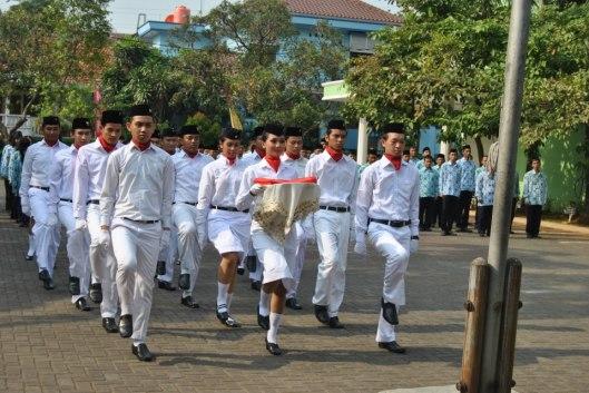 Pasukan Pengibar Bendera Upacara Peringatan Sumpah Pemuda 2012